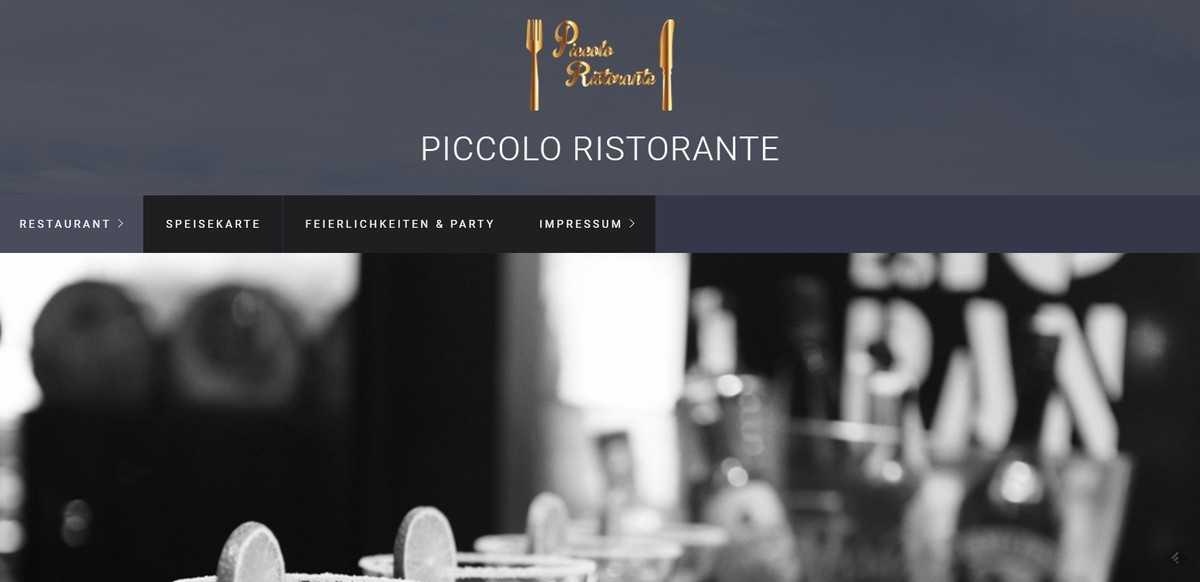 Piccolo Ristorante mit neuer Webseite