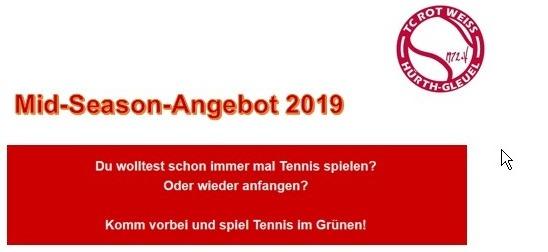 Vereinsbeitritt ab Mitte 2019!