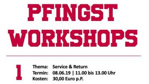 Pfingsten 3 x Tennis workshoppen