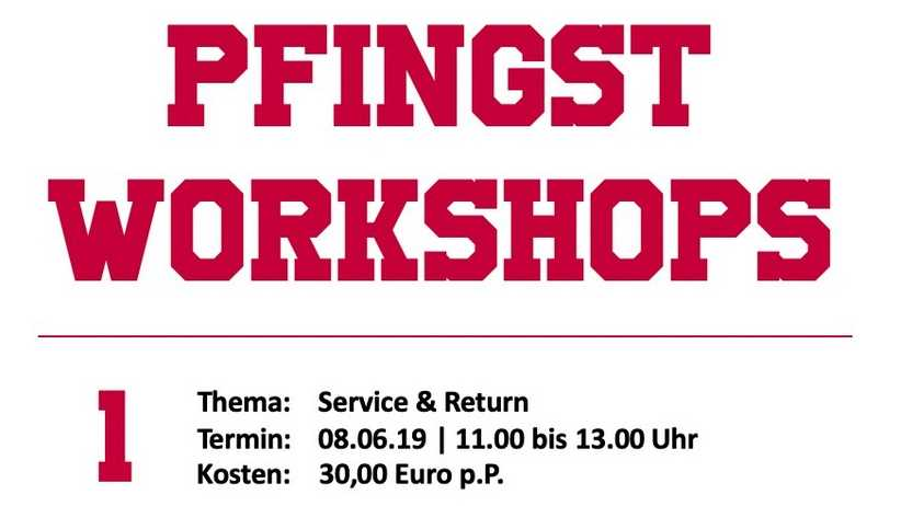 Read more about the article Pfingsten 3 x Tennis workshoppen